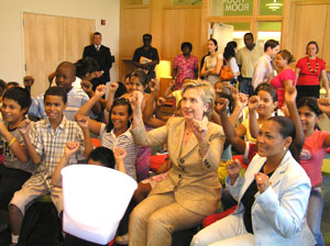 Hilary Clinton at Bronx Library